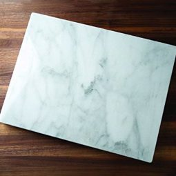 shown in white marble