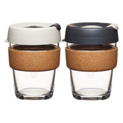 glass cup, 3 sizes and 2 colors