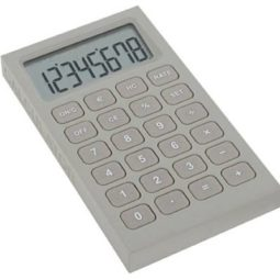grey rubber desk calculator