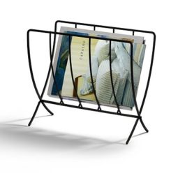 steel seville magazine rack