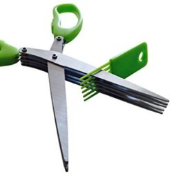 herb cutting scissors and brush