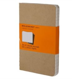 kraft notebook set of 3