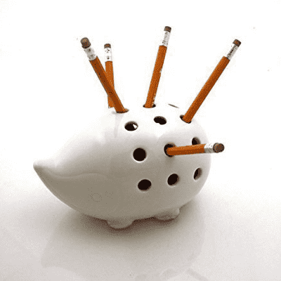 porcupine pencil holder